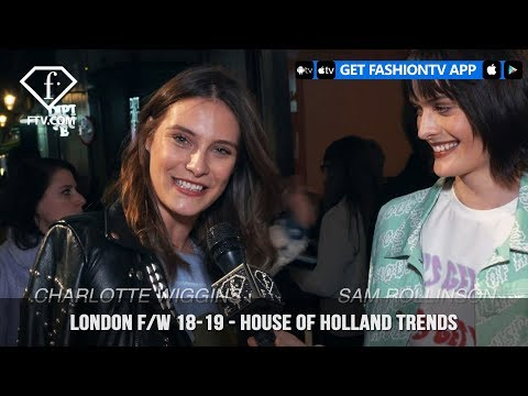 London Fall/Winter 18-19 - House of Holland Trends   FashionTV   FTV
