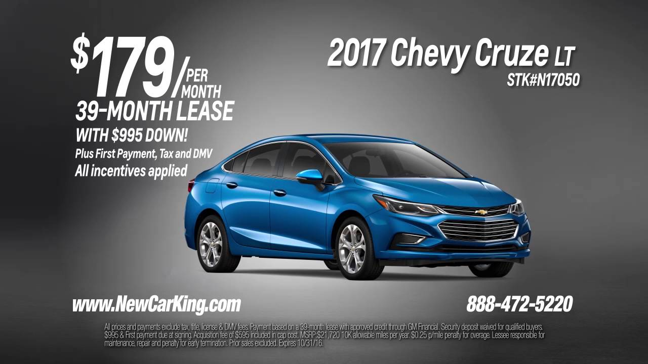 Chevy Cruze Lease >> Lease The All New 2017 Chevy Cruze Lt For Just 179 Per Month Youtube