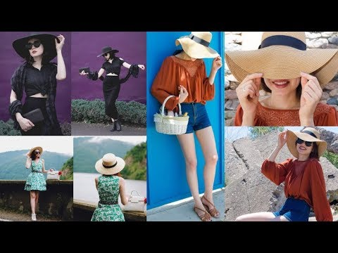 Summer 2018 Hat Trends   Statement Straw Hat Lookbook 2018 - YouTube 2af701962cd