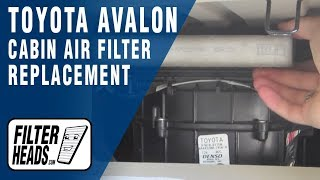 Cabin Air Filter Replacement- Toyota Avalon
