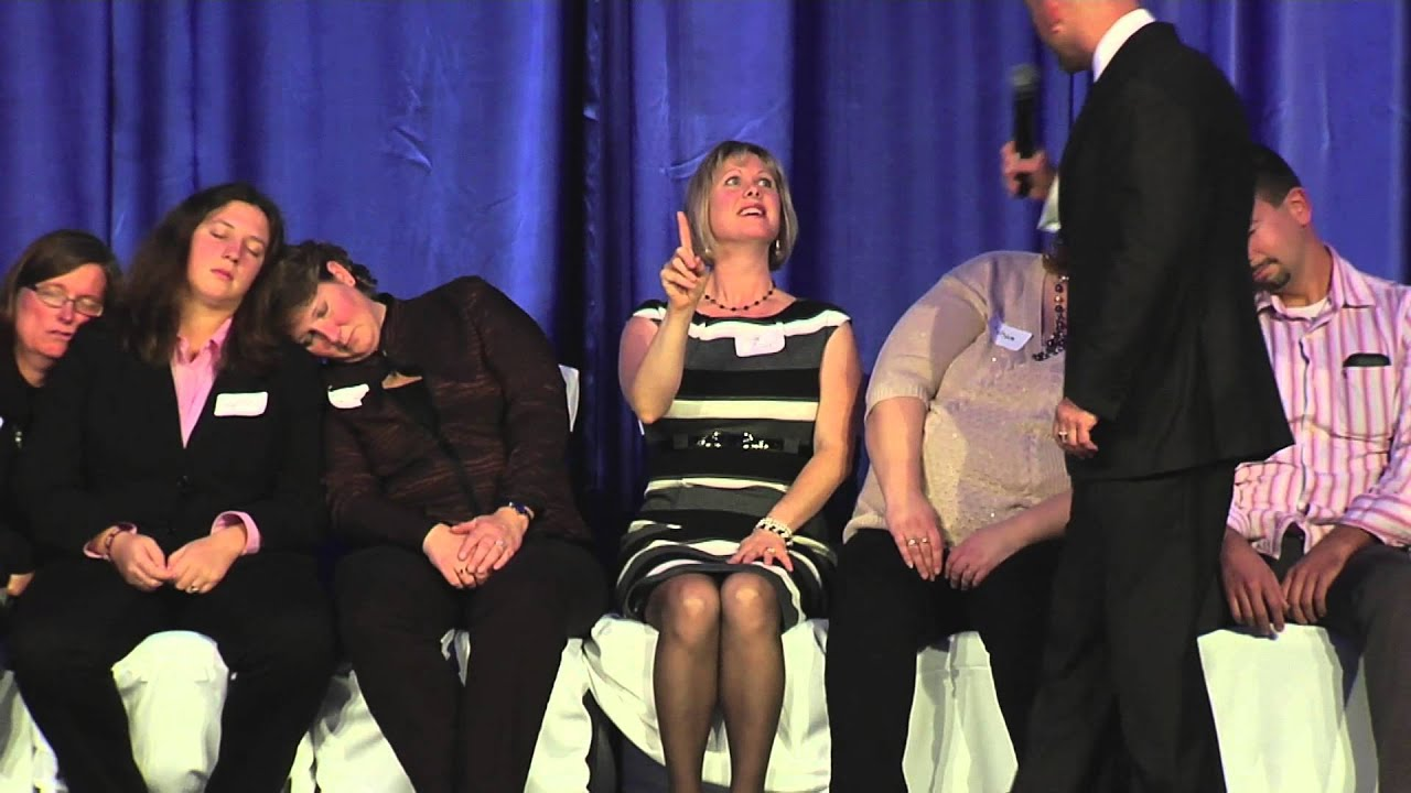 Corporate Event Ideas - Comedy Stage Hypnotist - YouTube  Stage Hypnosis