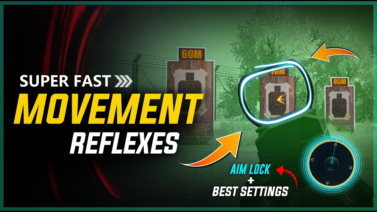 🔥 SUPER FAST MOVEMENT + REFLEXES SECRET SETTINGS | BEST TIPS AND TRICKS FOR PUBG MOBILE