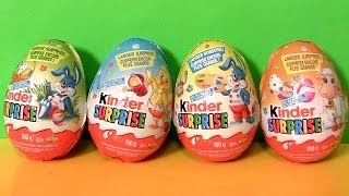 Huge Kinder Surprise Easter Eggs 2014 Farm Animals Series Huevos Ovetti di Pasqua by Disneycollector