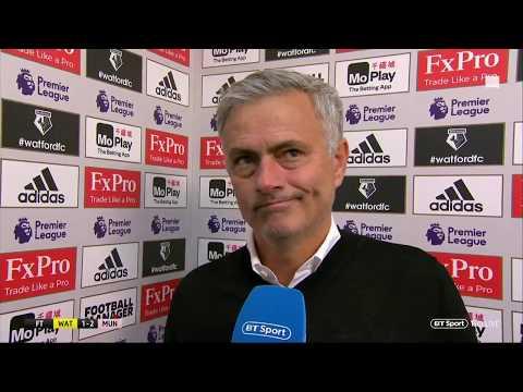"Watford v Man Utd | Jose Mourinho ""I think we should be winning 3 or 4 nil"""