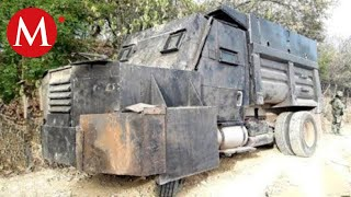 Ejército asegura vehículo blindado del CJNG en Michoacán