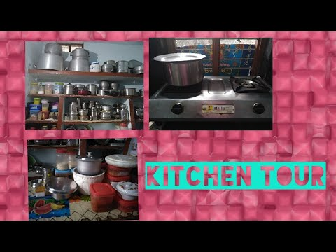 Small Indian kitchen tour//kitchen organisation my mom house//small kitchen organisation in Telugu.