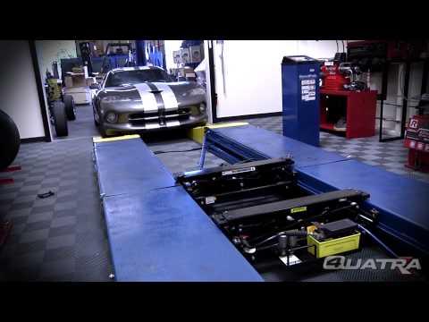 Super low profile car lift ramps - Quatra Pantograph Scissors Lifts by BendPak