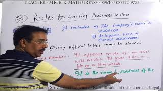 Business Letters Rules | Business communication | Mathur Sir Classes
