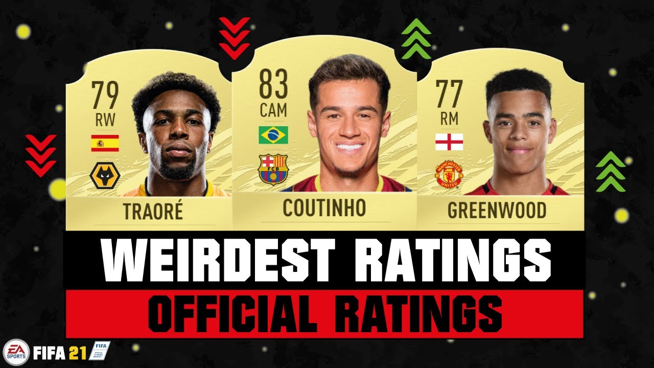 FIFA 21 | WEIRDEST PLAYER RATINGS! 😵😂| FT. COUTINHO, TRAORE, GREENWOOD... etc