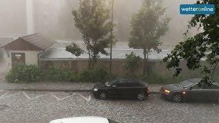 Schwere Hagelunwetter bei München (10.06.2019)