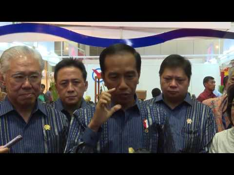 Presiden Joko Widodo Meninjau Trade Expo Indonesia 2016