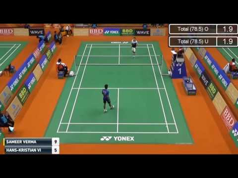 QF   Sameer VERMA vs Hans Kristian VITTINGHUS   2017 Syed Modi International