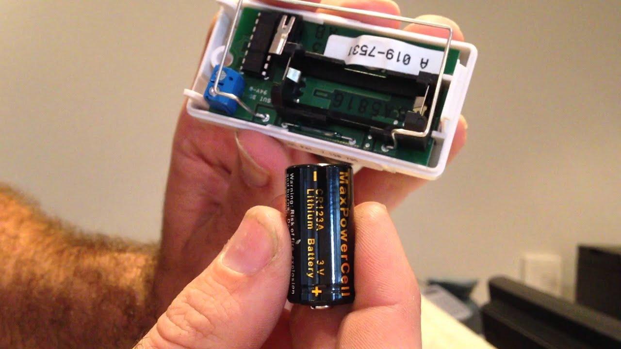 Honeywell Door Sensor Change Battery