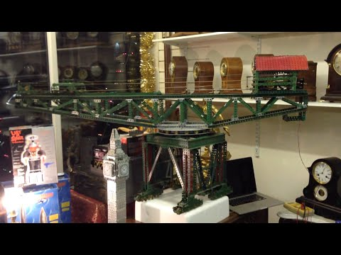 60 year old Full Size Meccano Block Setting Crane HUGE super model!