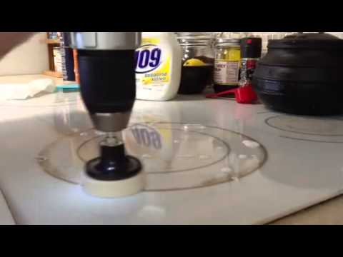 Easy way to clean a ceramic cooktop.