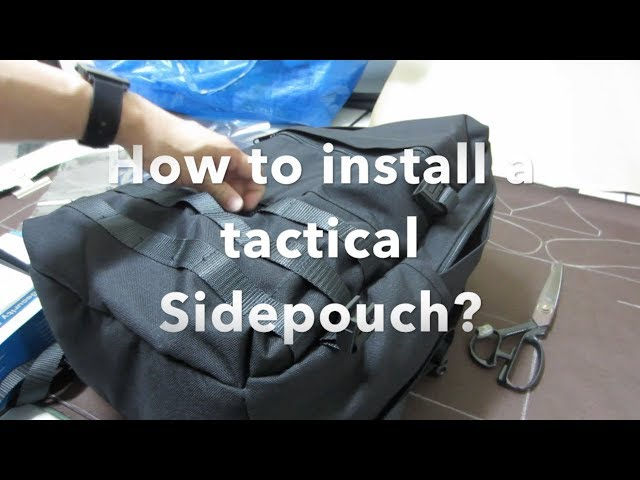How to... Installing a tactical Sidepouch.