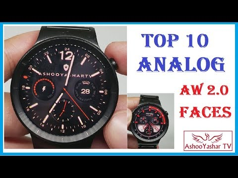 Top 10 Analog Android Wear Watch Faces 2017 - Best Faces For Android Wear 2.0