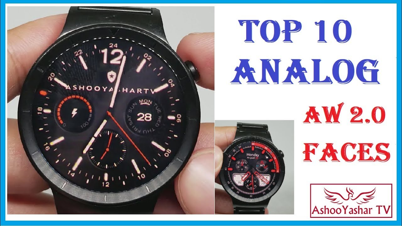 Top 10 Analog Android Wear Watch Faces 2017 Best Faces For Android