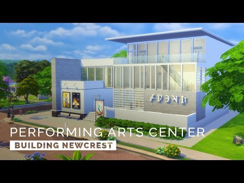 Sims 4  |  Speedbuild  |  Building Newcrest - Performing Arts Center