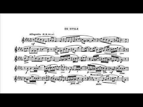 "Theo Charlier: Study n. 2 ""Du Style"" (Pierre Thibaud, trumpet)"