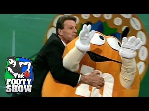 Sammy tackles mascot on live TV    AFL Footy Show 2018
