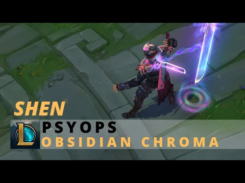 PsyOps Shen Obsidian Chroma - League Of Legends