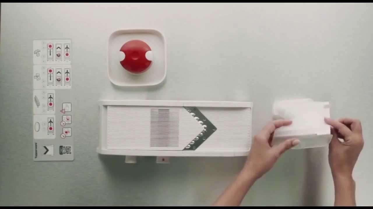 tupperware mandoline youtube. Black Bedroom Furniture Sets. Home Design Ideas