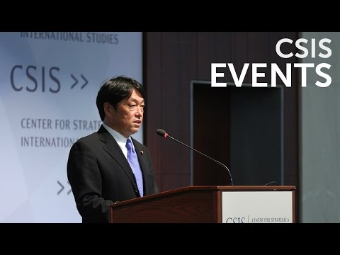 Statesmen's Forum: Minister of Defense of Japan Itsunori Onodera