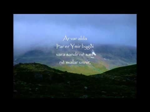 Voluspa 1-4 Poetic Edda Recital in Old Norse with Throat Singing
