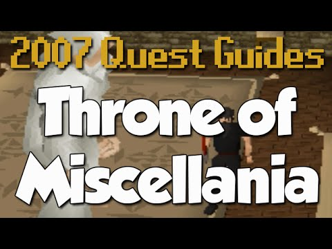 Runescape 2007 Quest Guides Throne Of Miscellania Youtube