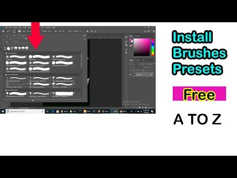 How To Install And Download Free Brushes For Photoshop Bangla Tutorial