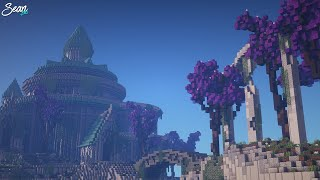 BEAUTIFUL Elven Castle Minecraft Timelapse YouTube