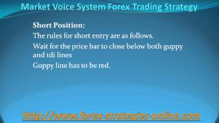 Market Voice System Forex Trading Strategy