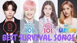 Best Song of Survivals K-Shows [PRODUCE, MIXNINE, THEUNIT]
