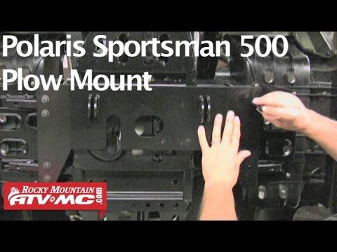 Polaris Sportsman 500 Tusk Subzero Atv Snow Plow Mount Installation