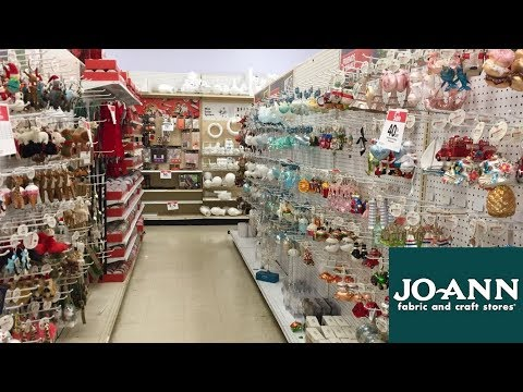 JOANN CHRISTMAS DECORATIONS ORNAMENTS HOME DECOR - SHOP WITH ME SHOPPING STORE WALK THROUGH 4K