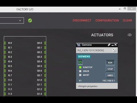 FACTORY I/O con Simulador  S7-PLCSIM - Conexión