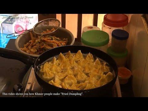 Homemade dumpling - Vegetarian fried dumpling - Fried dumpling in Cambodia - Asian Food #11