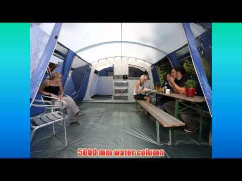 Skandika Milano 6 Man Tent - Blue & Skandika Milano 6 Man Tent - Blue - YouTube