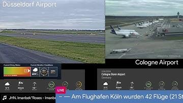 Orkan Sabine Live - Kamera / Spotting am Flughafen Düsseldorf / Köln
