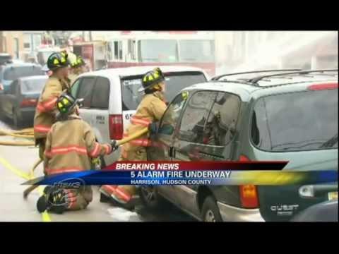 Five Fire Alarm in Harrison, New Jersey | Raw Footage Of Backdraft Fire in NJ Building !!!!