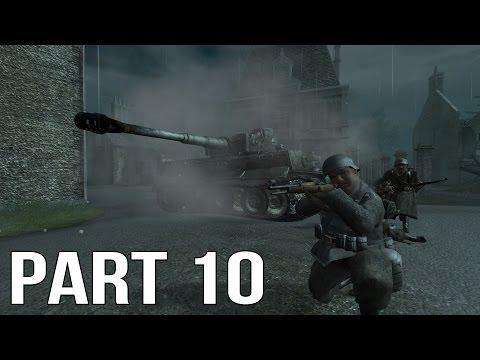 Call of Duty 2 Gameplay Walkthrough Part 10 - British Campaign - Battle for Caen 2/2