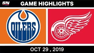 NHL Highlights   Oilers vs. Red Wings – Oct. 29, 2019