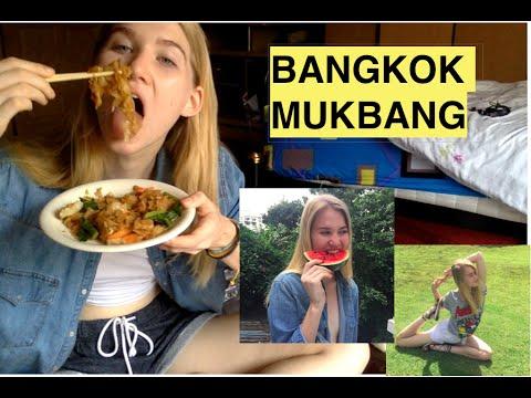 VEGAN Thai Street Food MUKBANG - Modeling, Markets and More in Bangkok