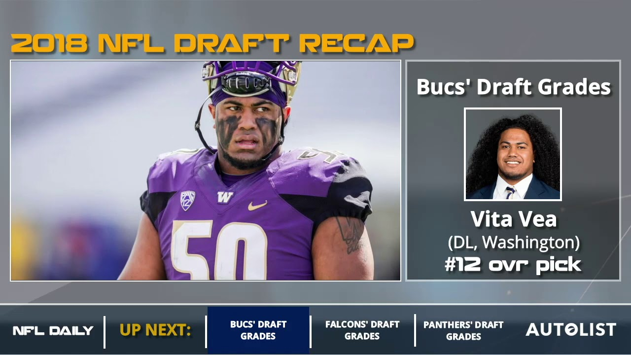 b88853f79 Tampa Bay Buccaneers 2018 NFL Draft Grades And Analysis - YouTube