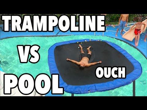 TRAMPOLINE VS POOL!!!