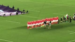 (現地)  入場-国歌斉唱 ラグビーワールドカップ2019 ウェールズvs南アフリカ Rugby World Cup 2019 Wales v South Africa【準決勝】