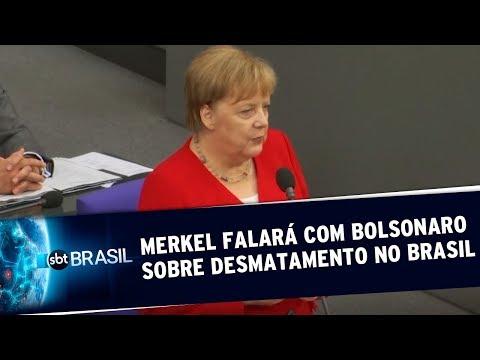 Angela Merkel falará com Bolsonaro sobre desmatamento no Brasil | SBT Brasil (26/06/19)
