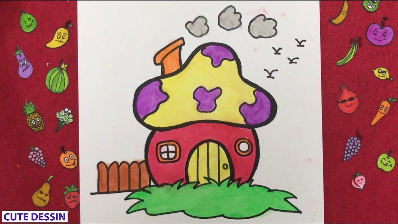 Comment Dessiner Et Colorier Une Maison Mignon Facilement Etape Par Etape 3 Dessin Maison Bizimtube Creative Diy Ideas Crafts And Smart Tips