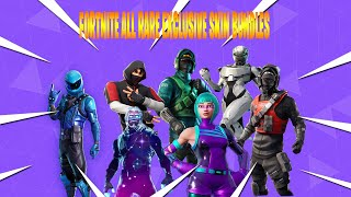 ALL MY *EXCLUSIVE* SKINS IN FORTNITE! (IKONIK, GALAXY, HONOR WONDER & MORE) (Fortnite Battle Royale)
